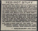 Red-Hot Stuff Sign
