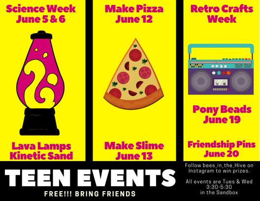 teen summer 2018 events